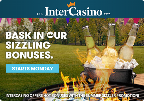 InterCasino Offers Hot Bonuses with the Summer Sizzler Promotion